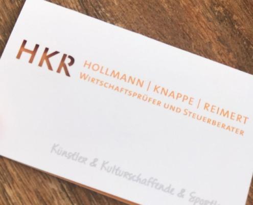 Lasergestantzte Visitenkarten für HKR Berlin
