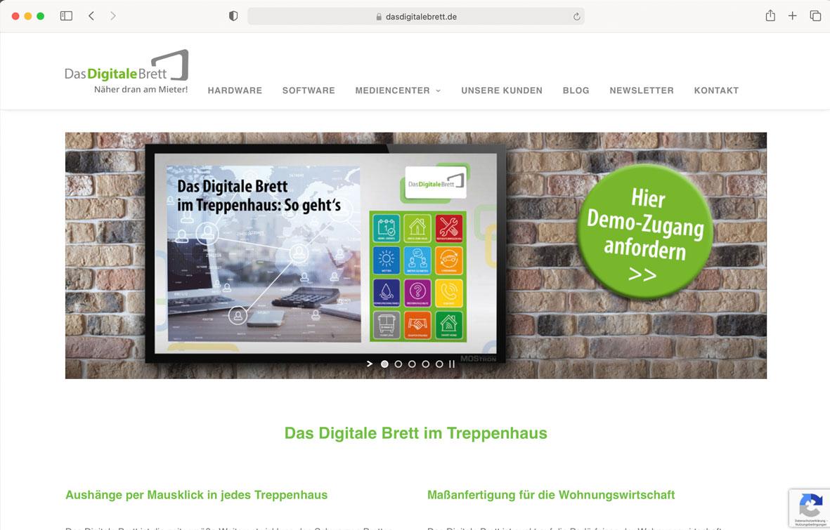 Das Digitale Brett Website