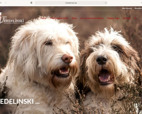 Friedelinski Leinenmanufaktur Website