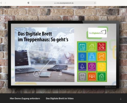 Das Digitale Brett Website Demoversion