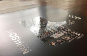 Mostron Imagebroschüre mit partieller Drucklackierung