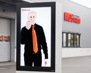 MOStron Elektronik Film für Outdoor-Stele