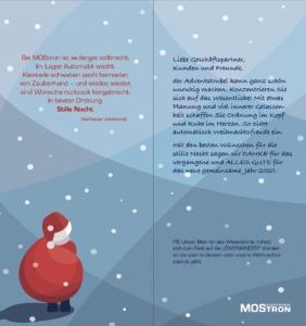 MOStron Elektronik Weihnachtskarte 2019 innen