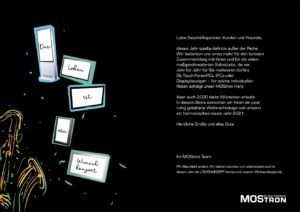 MOStron Elektronik Weihnachtskarte 2020 innen